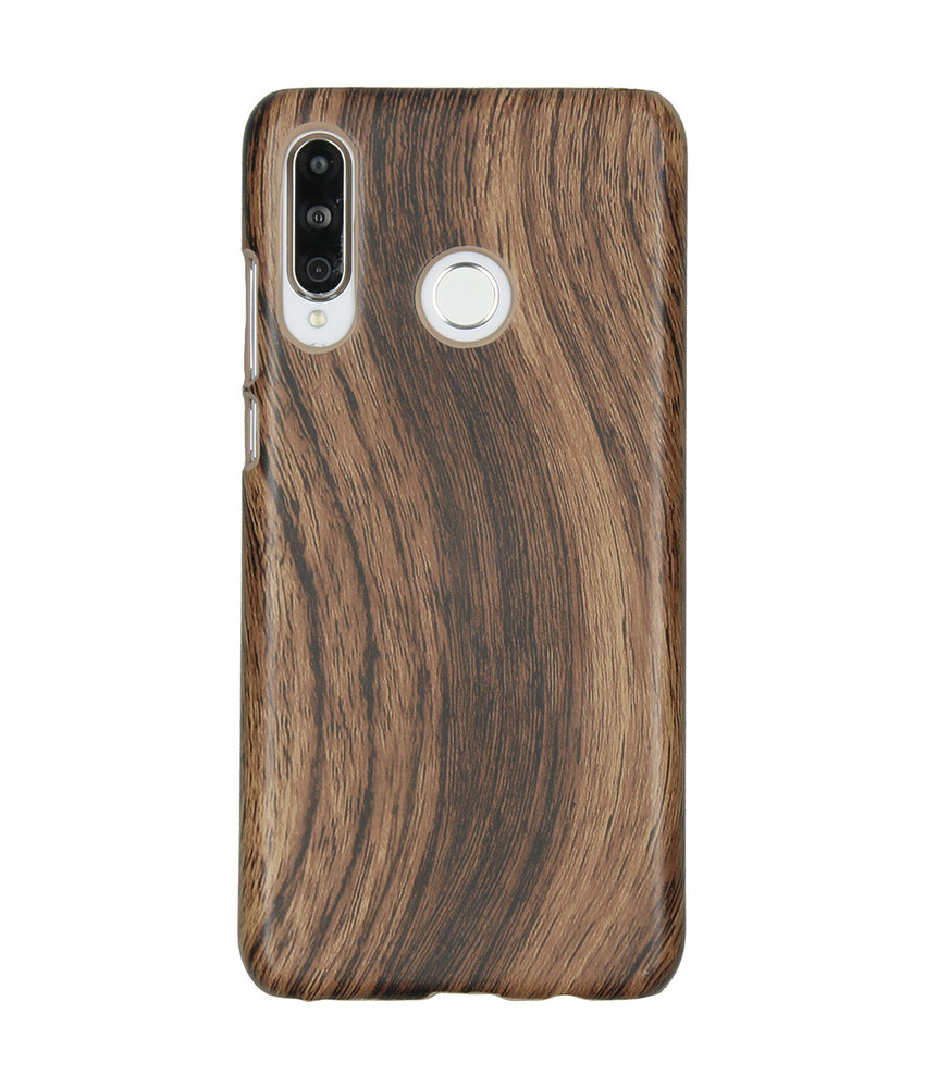 Hout Design Backcover Huawei P30 Lite - Bruin