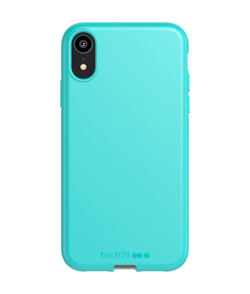 Studio Colour Antimicrobial Backcover iPhone Xr - Teal Me About It