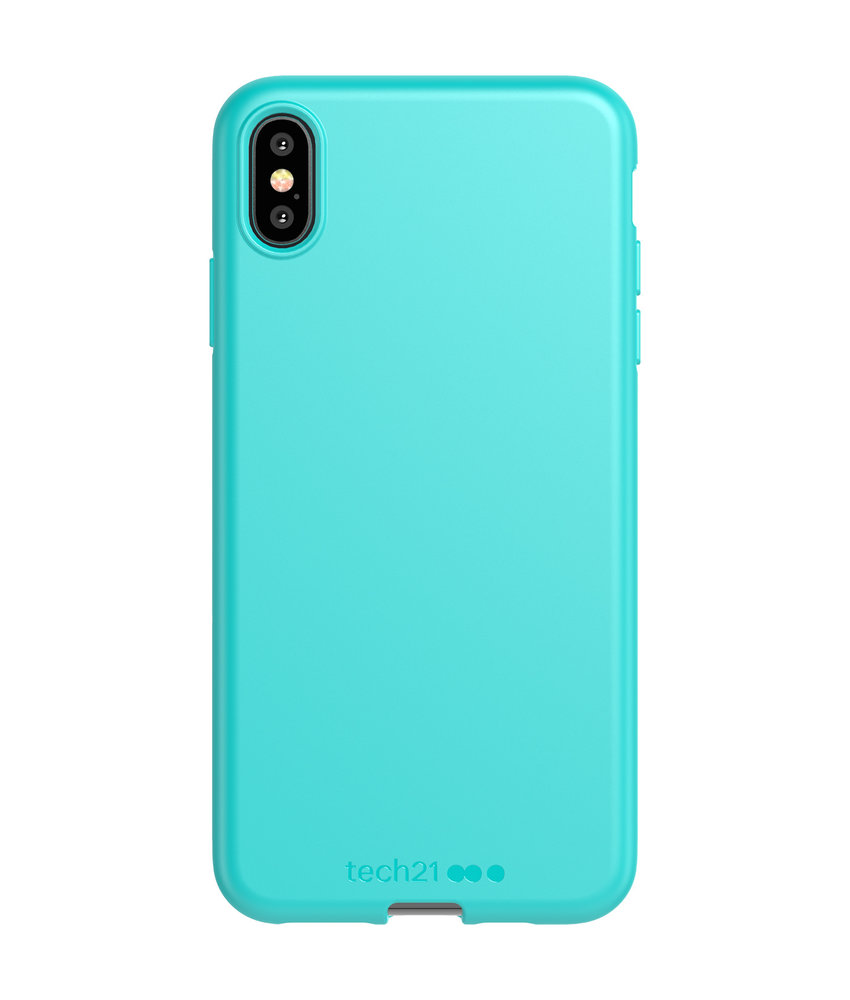 Studio Colour Antimicrobial Backcover iPhone Xs Max - Teal Me About It