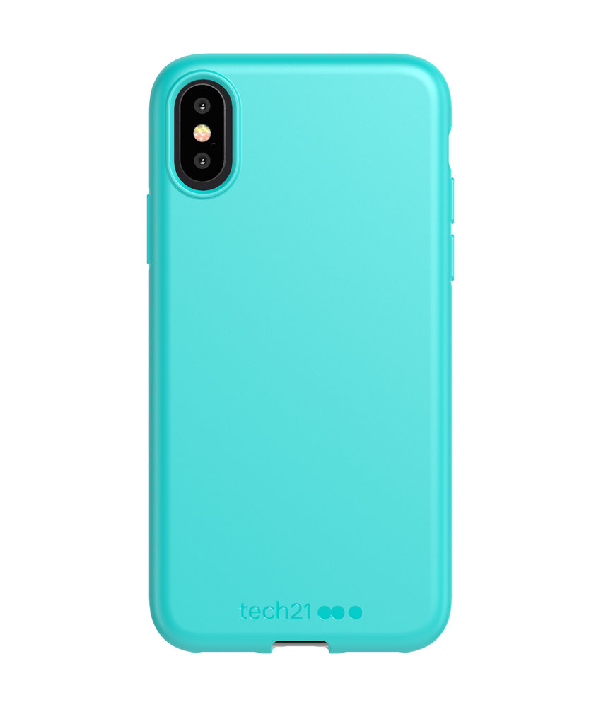 Studio Colour Antimicrobial Backcover iPhone Xs / X - Teal Me About It