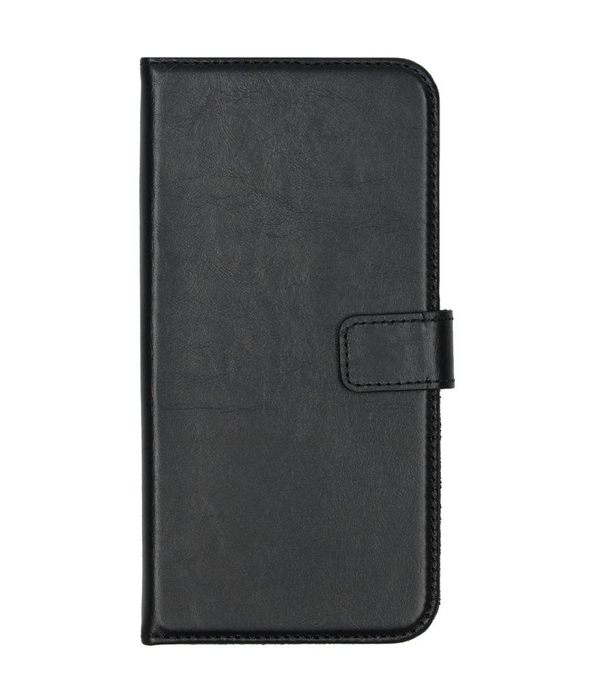 Selencia Echt Lederen Booktype iPhone 11 Pro Max - Zwart