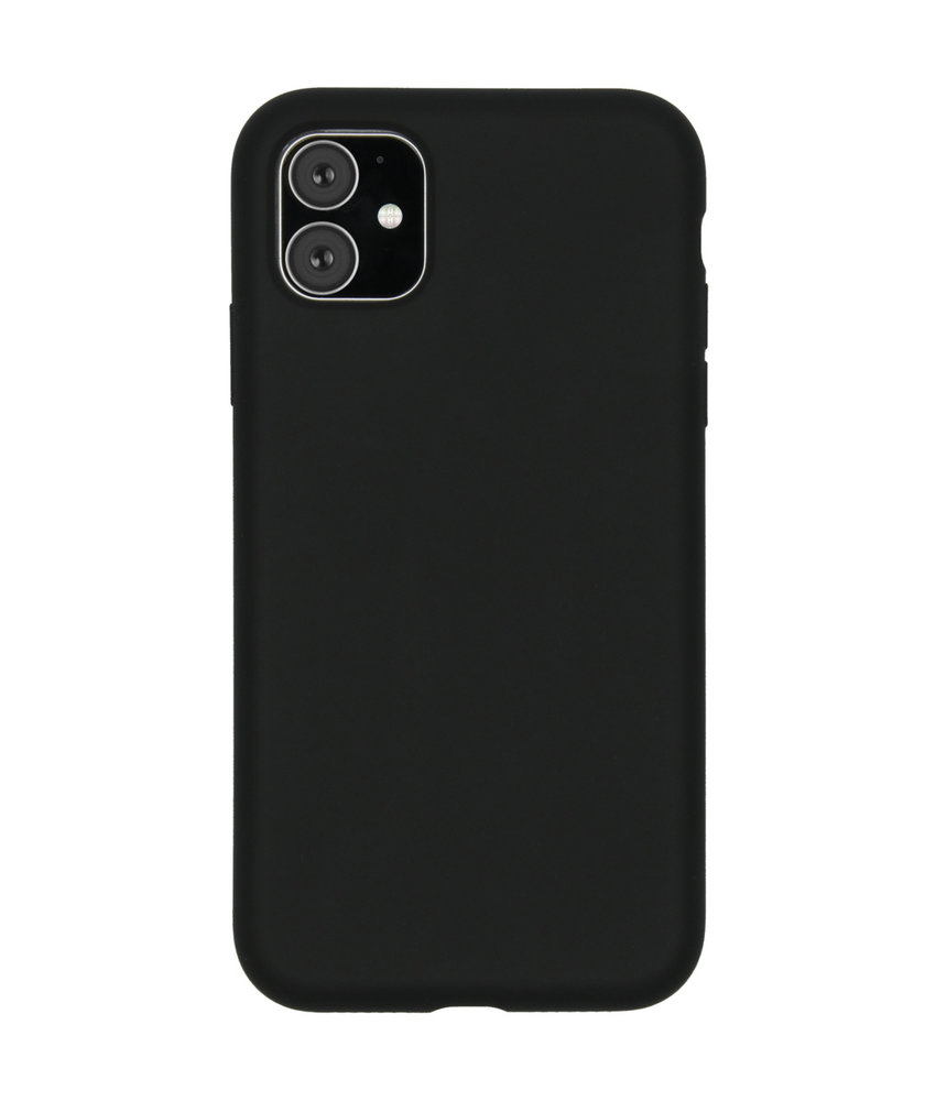Accezz Liquid Silicone Backcover iPhone 11 - Zwart