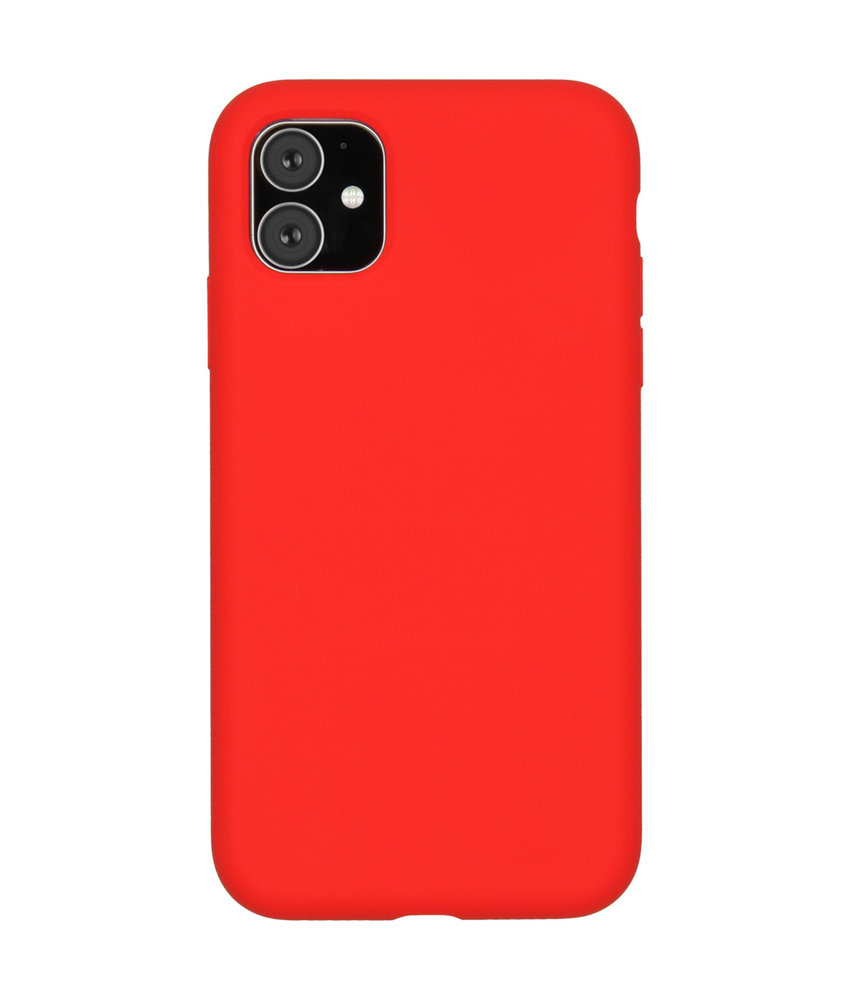 Accezz Liquid Silicone Backcover iPhone 11 - Rood
