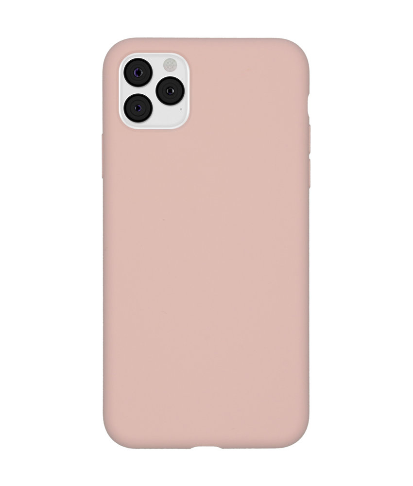 Accezz Liquid Silicone Backcover iPhone 11 Pro Max - Roze