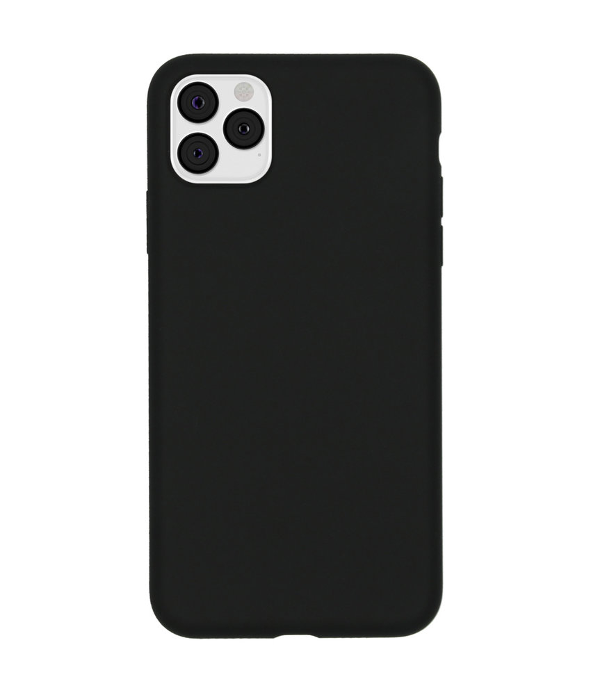 Accezz Liquid Silicone Backcover iPhone 11 Pro Max - Zwart