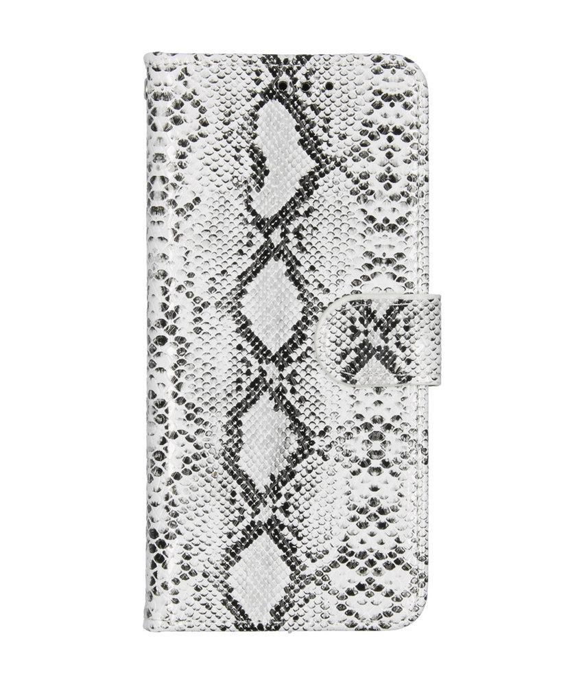 Slangenprint Booktype Samsung Galaxy A20e - Wit