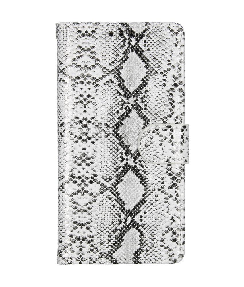 Slangenprint Booktype Samsung Galaxy A40 - Wit