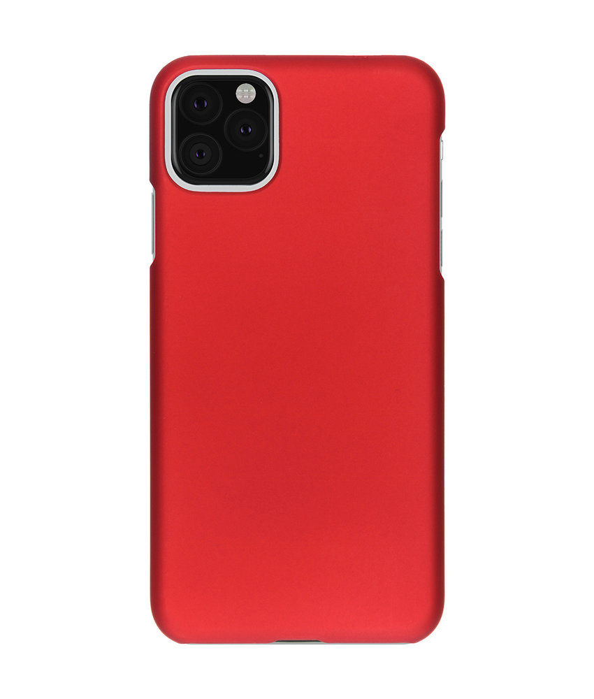 Effen Backcover iPhone 11 Pro Max - Rood