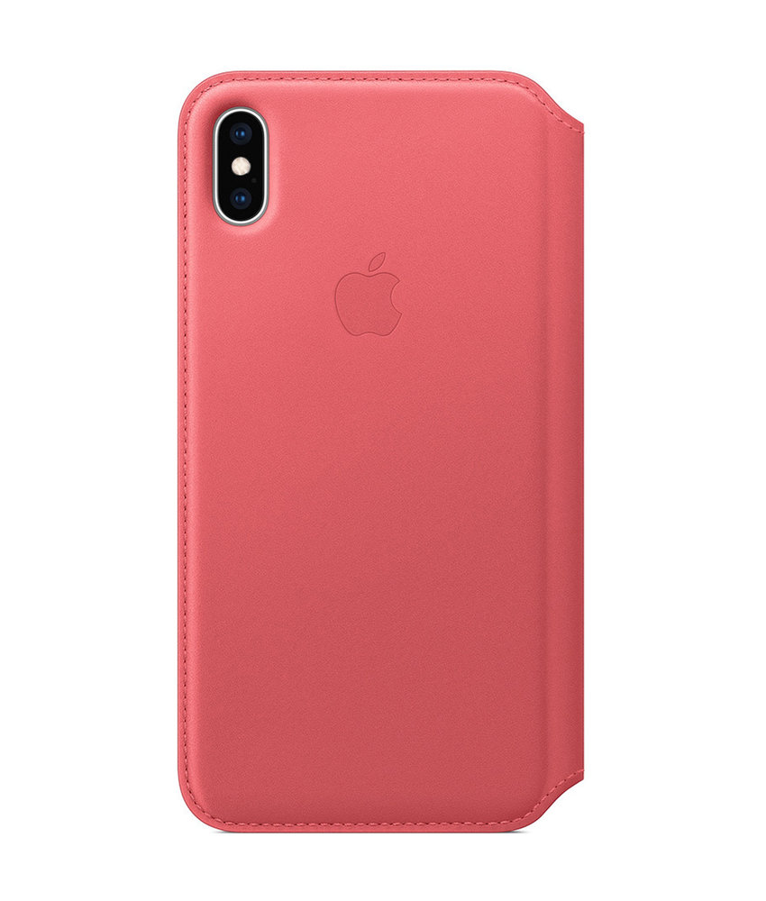 Apple Leather Folio Booktype iPhone Xs Max - Peony Pink