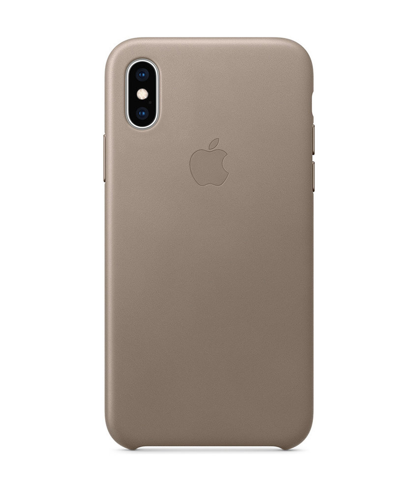 Apple Leather Backcover iPhone Xs Max - Taupe