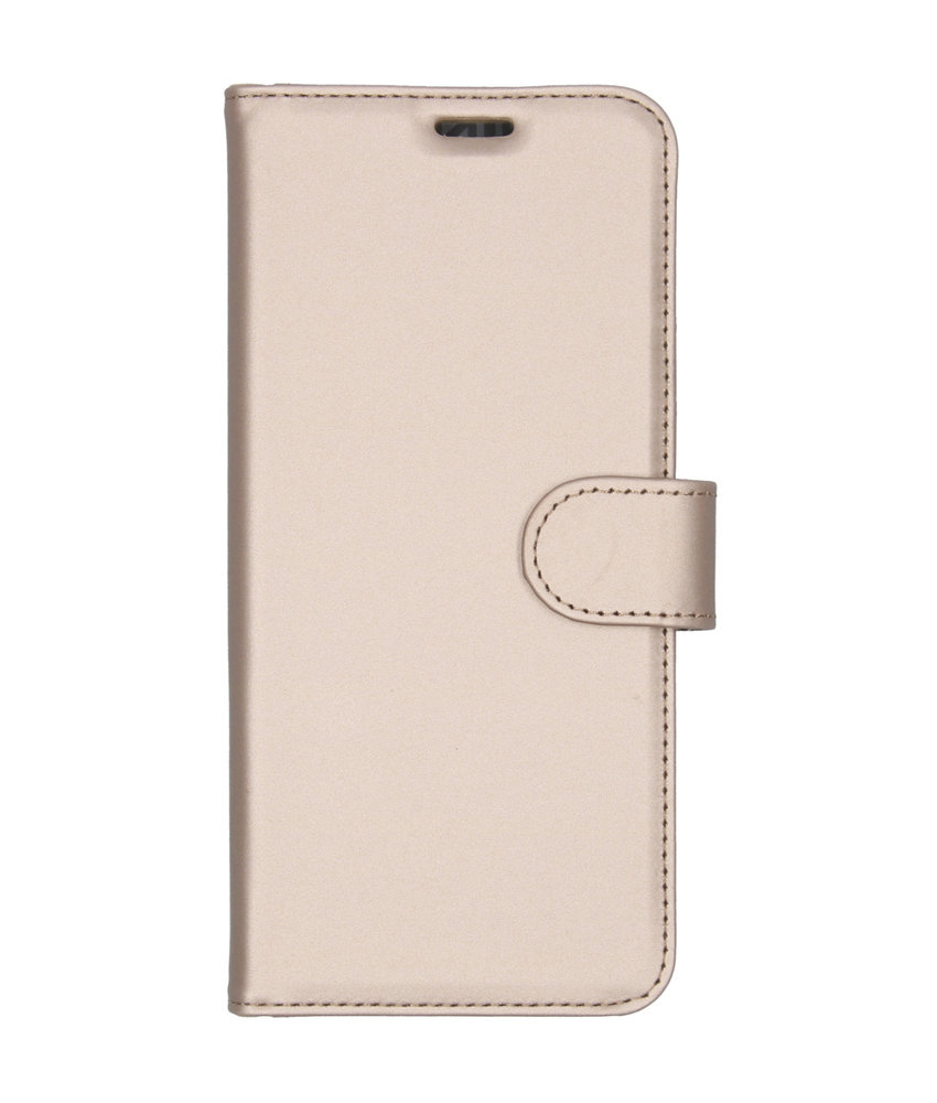 Accezz Wallet Softcase Booktype Motorola One Vision - Goud