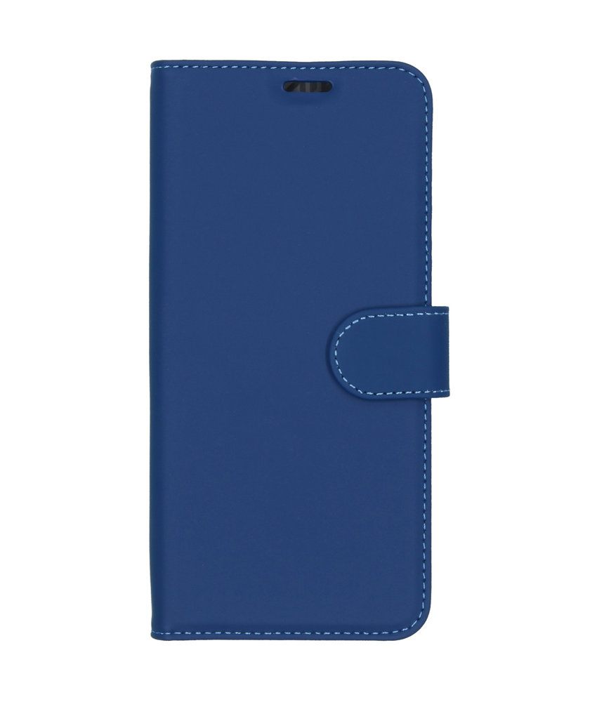 Accezz Wallet Softcase Booktype Motorola One Vision - Donkerblauw