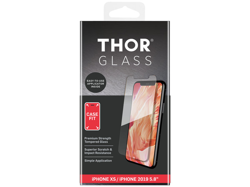 THOR Case-Fit Screenprotector + Easy Apply Frame voor de iPhone 11 Pro / Xs / X