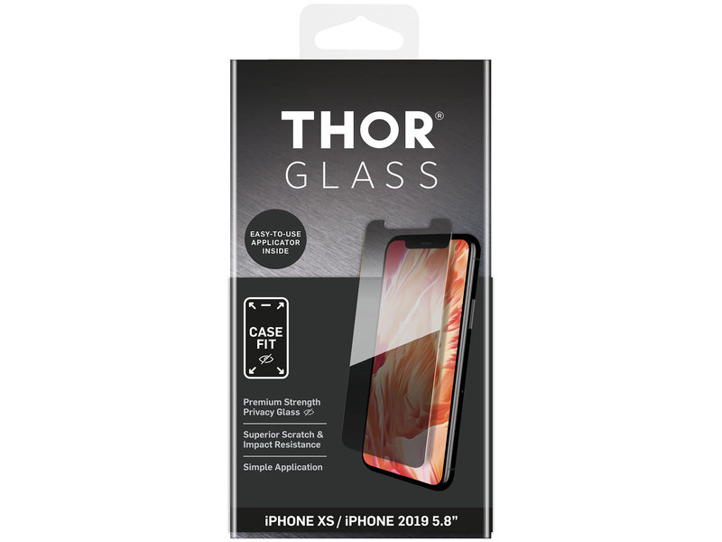 THOR Case-Fit Privacy Screenprotector + Easy Apply Frame voor iPhone 11 Pro / iPhone X(s)