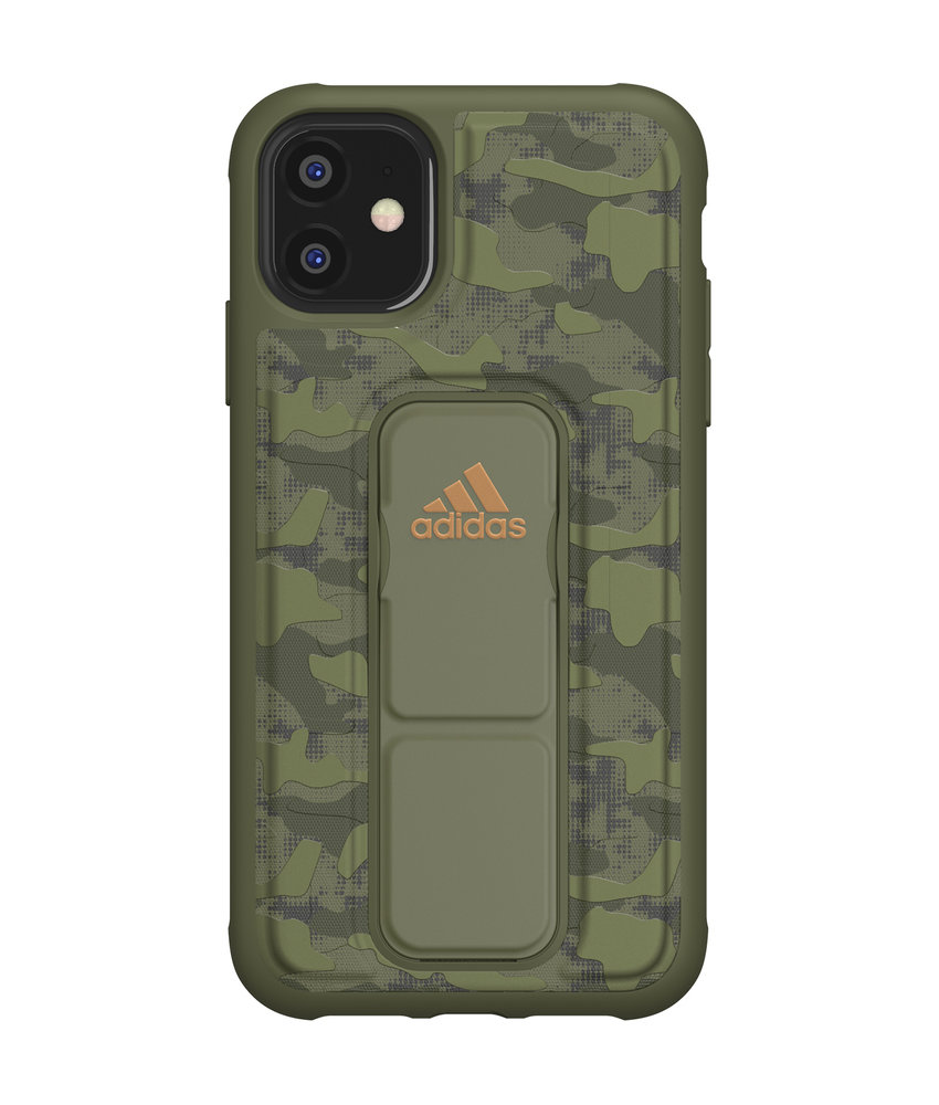 adidas Sports Grip Backcover iPhone 11 - Groen