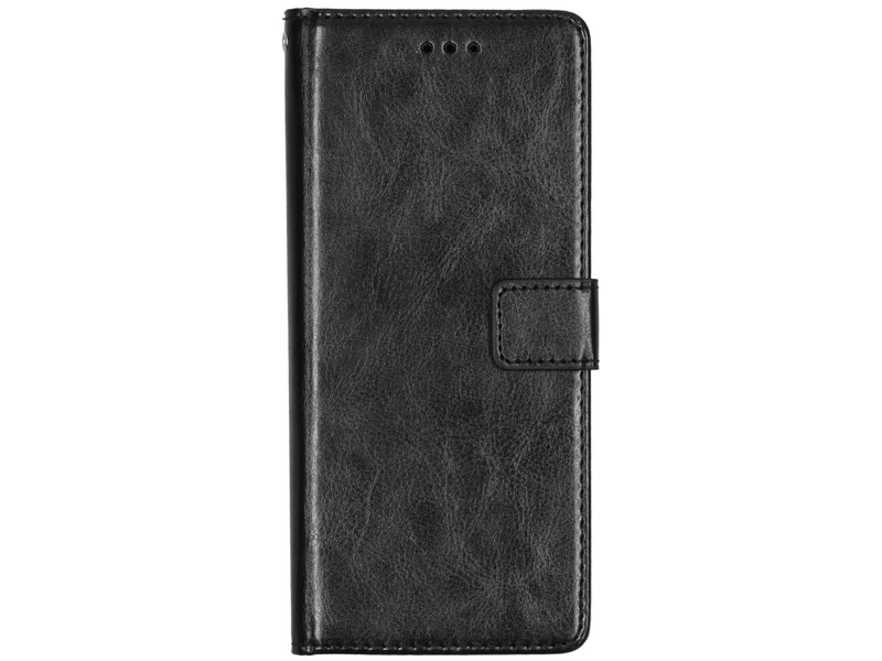 Motorola One Action hoesje - Basic Leather Booktype voor