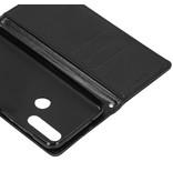 Basic Leather Booktype voor de Motorola One Action - Zwart