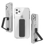 Clckr Gripcase Foundation voor de iPhone 11 Pro Max - Transparant / Zwart