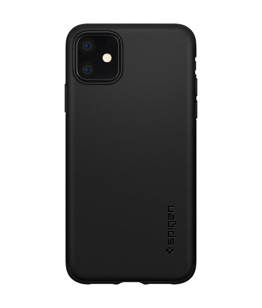 Spigen Thin Fit 360° Backcover iPhone 11 - Zwart