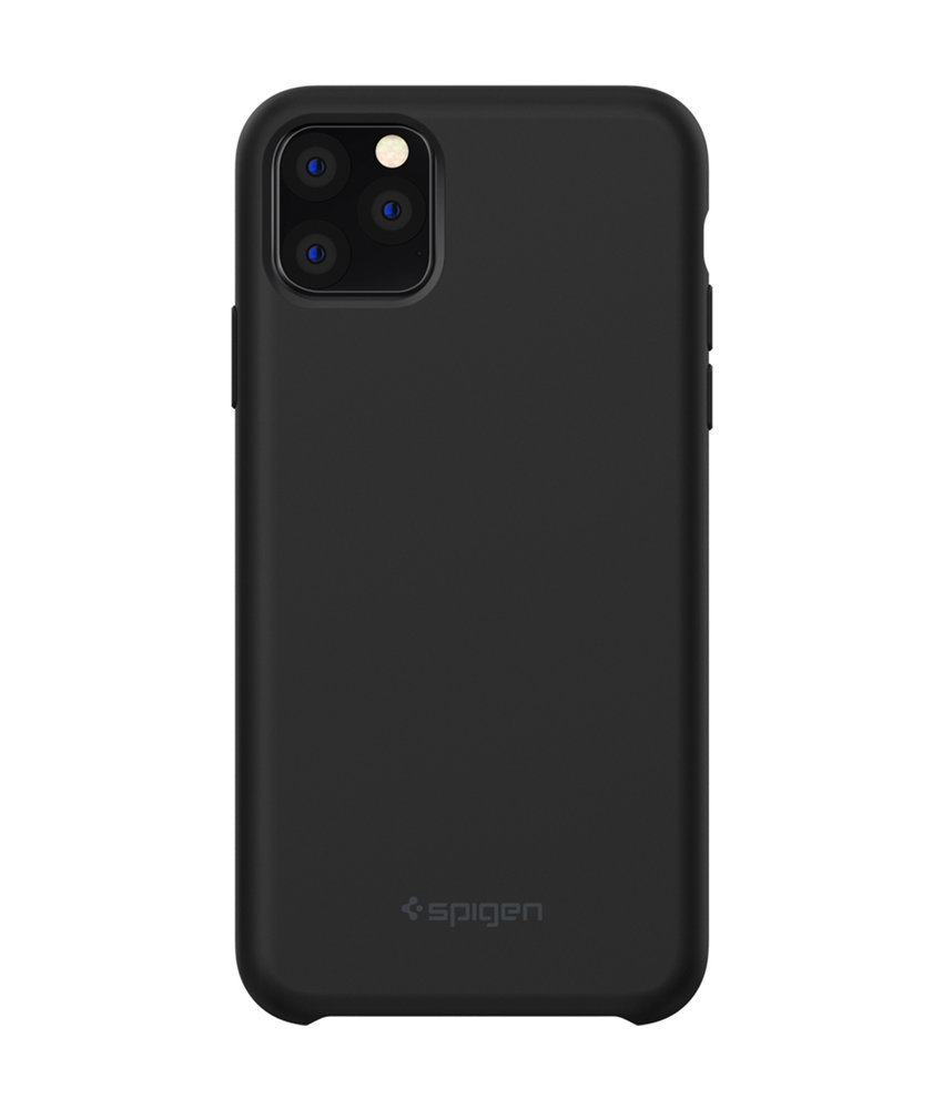 Spigen Silicone Fit Backcover iPhone 11 Pro - Zwart