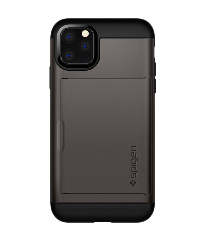 Spigen Slim Armor CS Backcover iPhone 11 Pro Max - Grijs