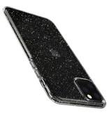 Spigen Liquid Crystal Glitter Backcover voor de iPhone 11 Pro - Zilver
