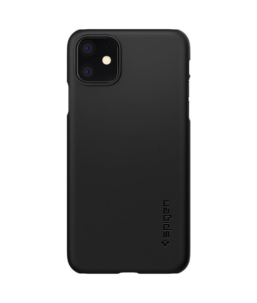 Spigen Thin Fit Backcover iPhone 11 - Zwart