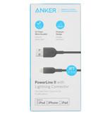 Anker PowerLine II Lightning naar USB kabel - 0,9 meter - Zwart