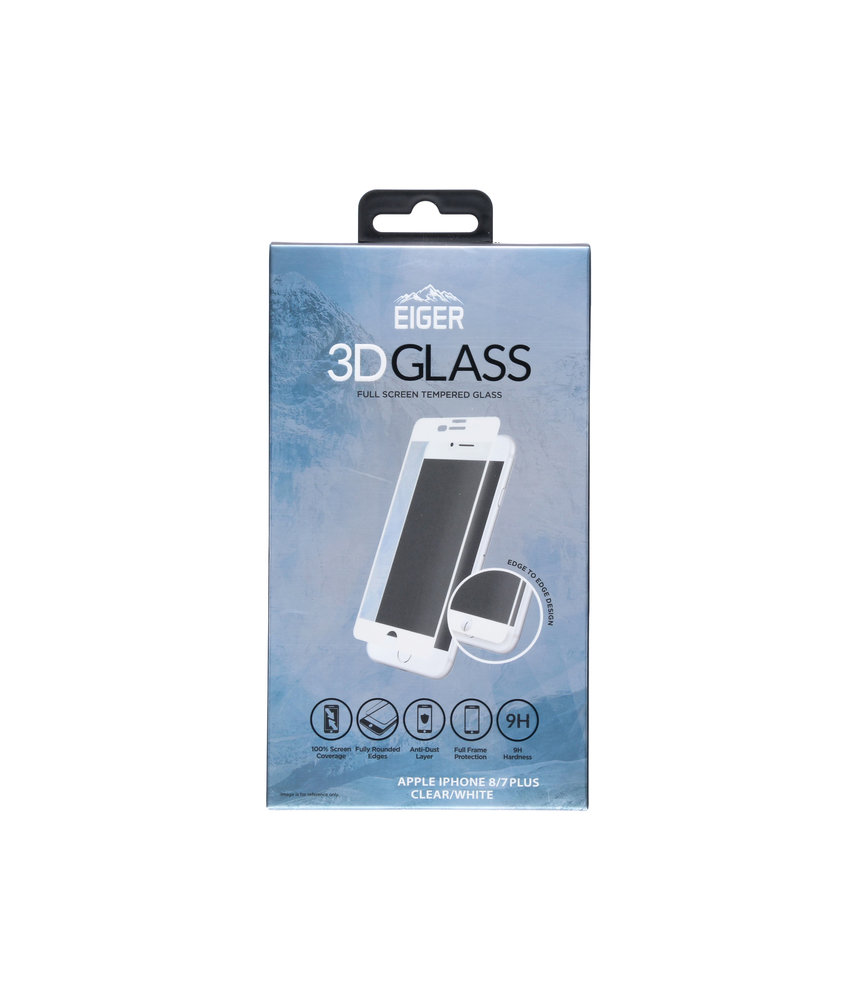 Eiger Tempered Glass Screenprotector iPhone 8 Plus / 7 Plus