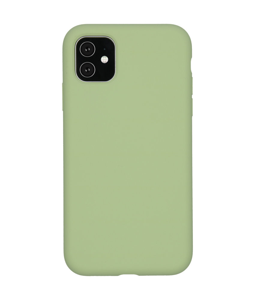 Accezz Liquid Silicone Backcover iPhone 11 - Groen