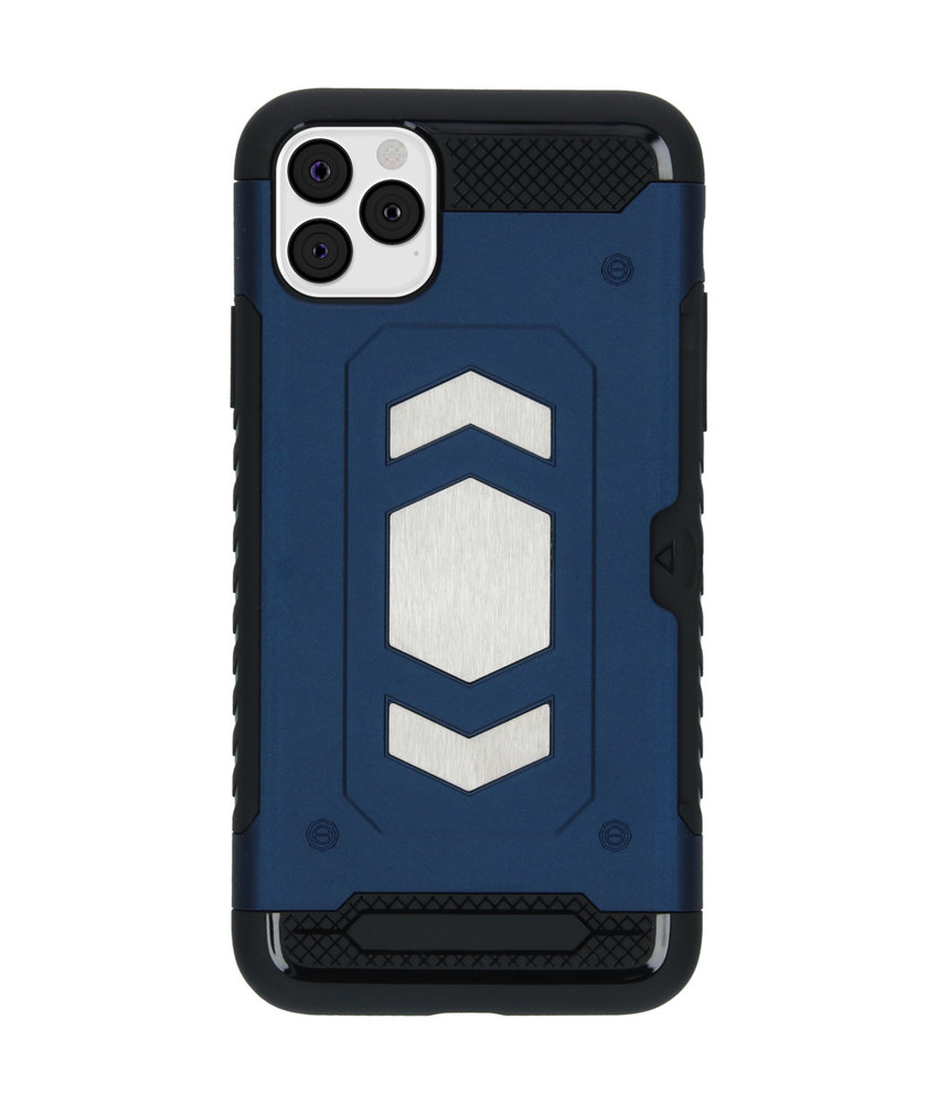 iMoshion Xtreme Backcover met pashouder iPhone 11 Pro Max - Blauw