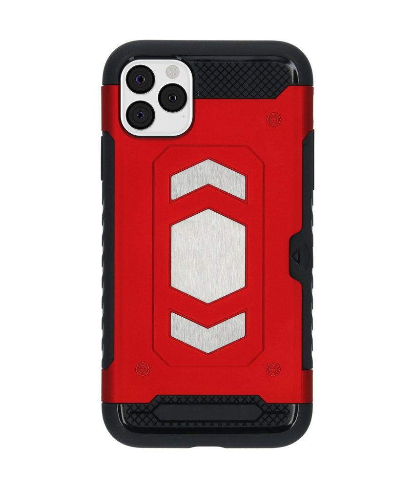 iMoshion Xtreme Backcover met pashouder iPhone 11 Pro Max - Rood