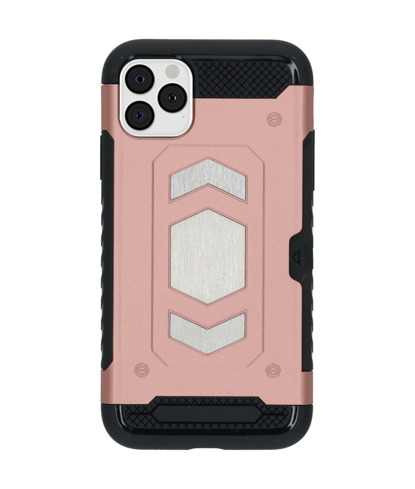 iMoshion Xtreme Backcover met pashouder iPhone 11 Pro Max - Rosé Goud