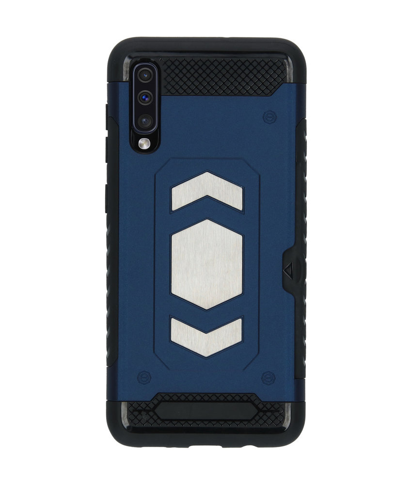 Xtreme Backcover met pashouder Samsung Galaxy A50 - Blauw