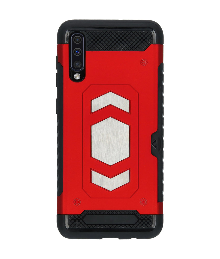 Xtreme Backcover met pashouder Samsung Galaxy A50 - Rood