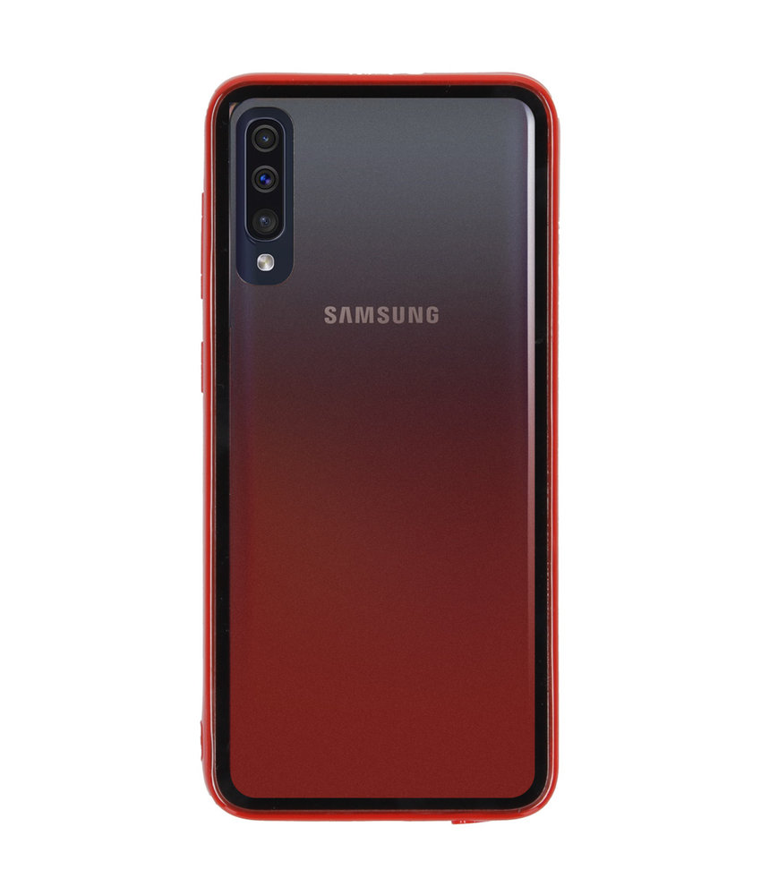 Gradient Backcover Samsung Galaxy A50 - Rood