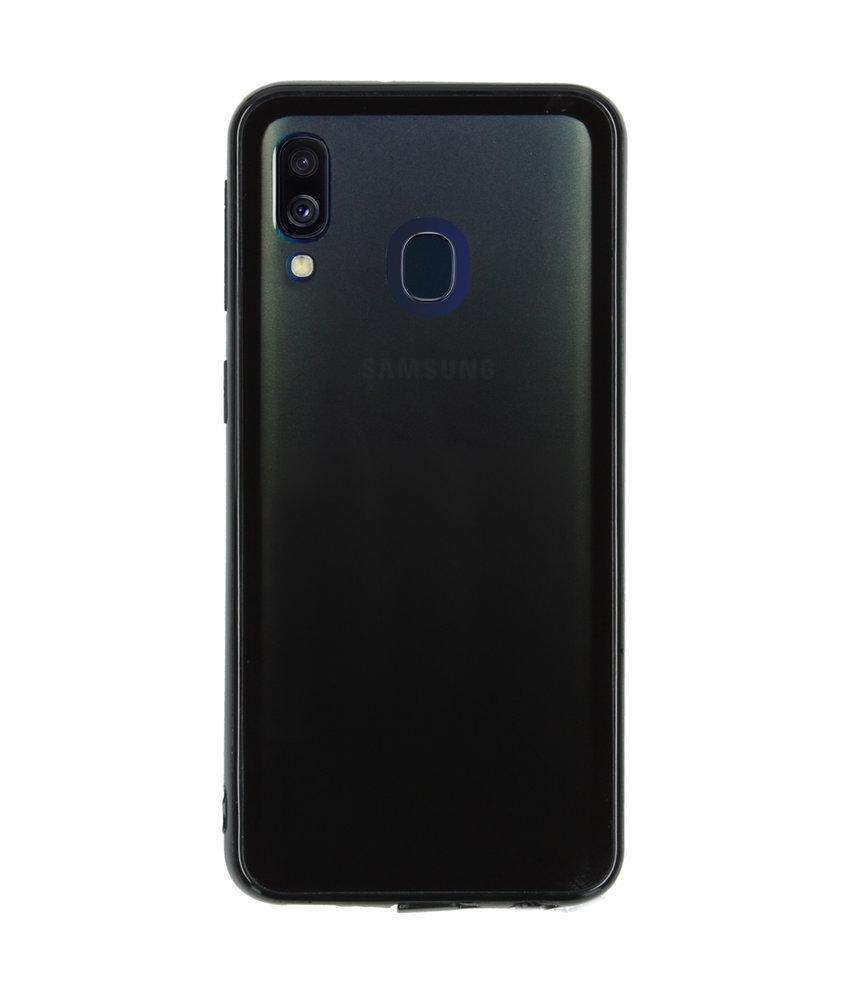 Gradient Backcover Samsung Galaxy A40 - Zwart