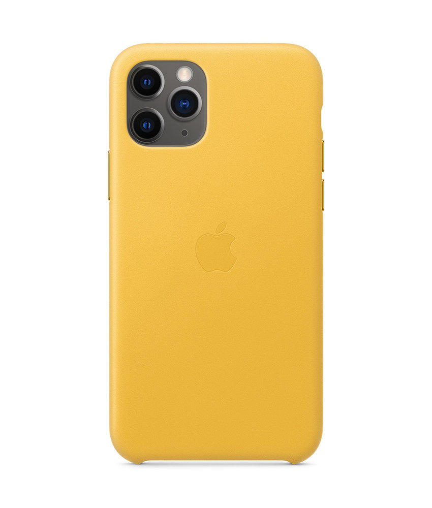 Apple Leather Backcover iPhone 11 Pro - Meyer Lemon
