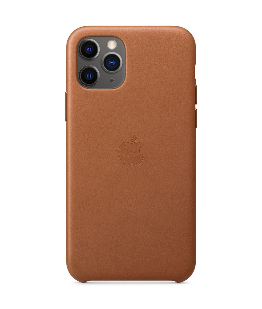 Apple Leather Backcover iPhone 11 Pro - Saddle Brown