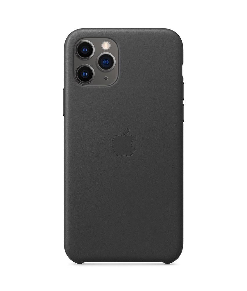 Apple Leather Backcover iPhone 11 Pro - Zwart