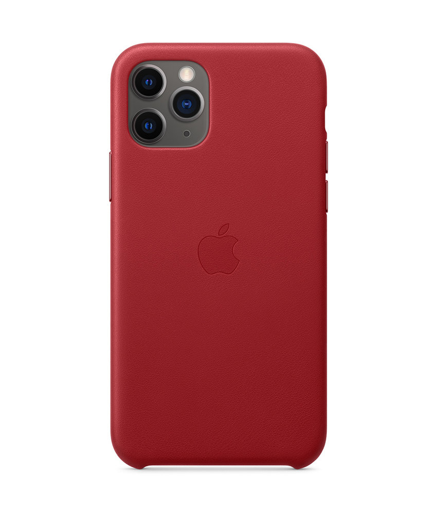 Apple Leather Backcover iPhone 11 Pro - Red