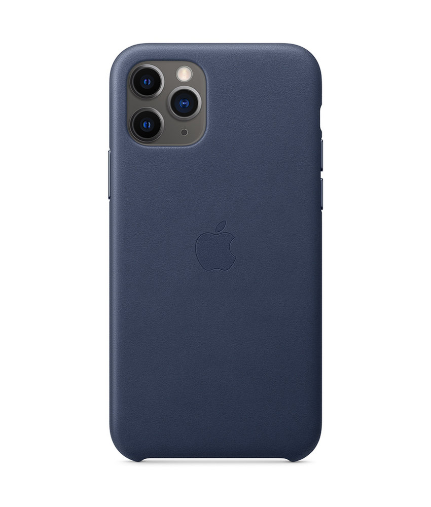 Apple Leather Backcover iPhone 11 Pro - Midnight Blue