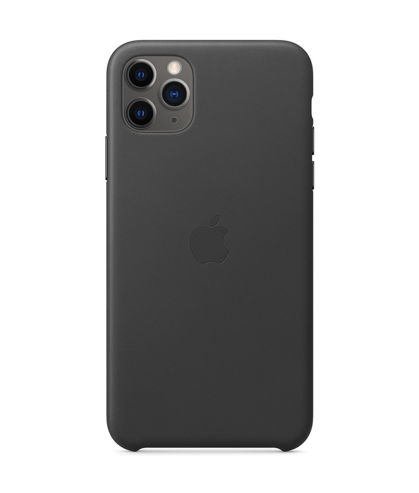 Apple Leather Backcover iPhone 11 Pro Max - Zwart