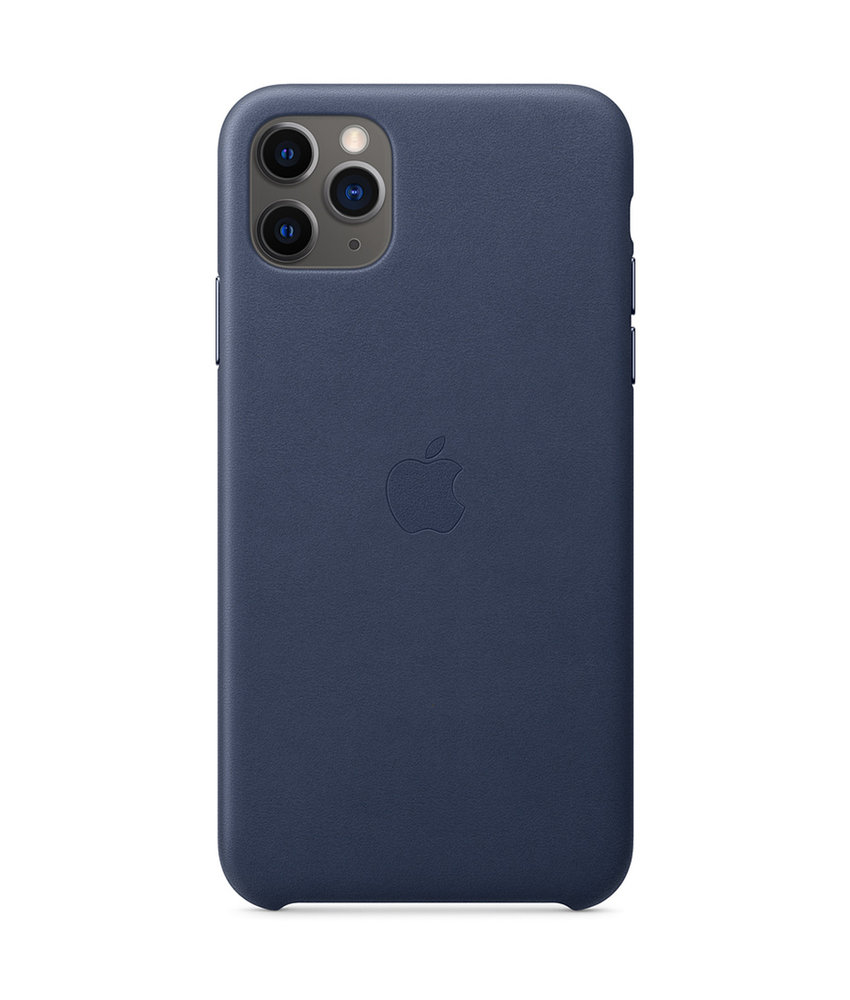 Apple Leather Backcover iPhone 11 Pro Max - Midnight Blue