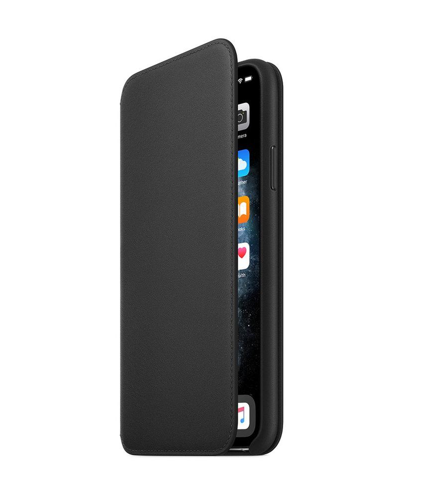 Apple Leather Folio Booktype iPhone 11 Pro Max - Zwart
