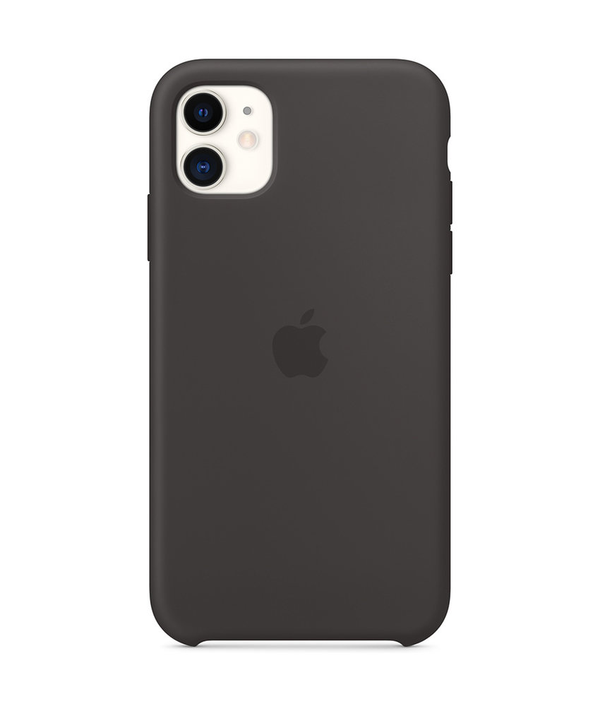 Apple Silicone Backcover iPhone 11 - Zwart