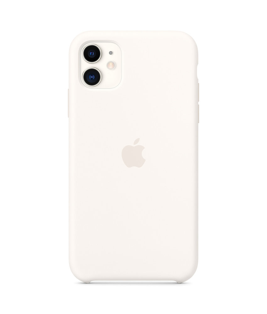 Apple Silicone Backcover iPhone 11 - Wit