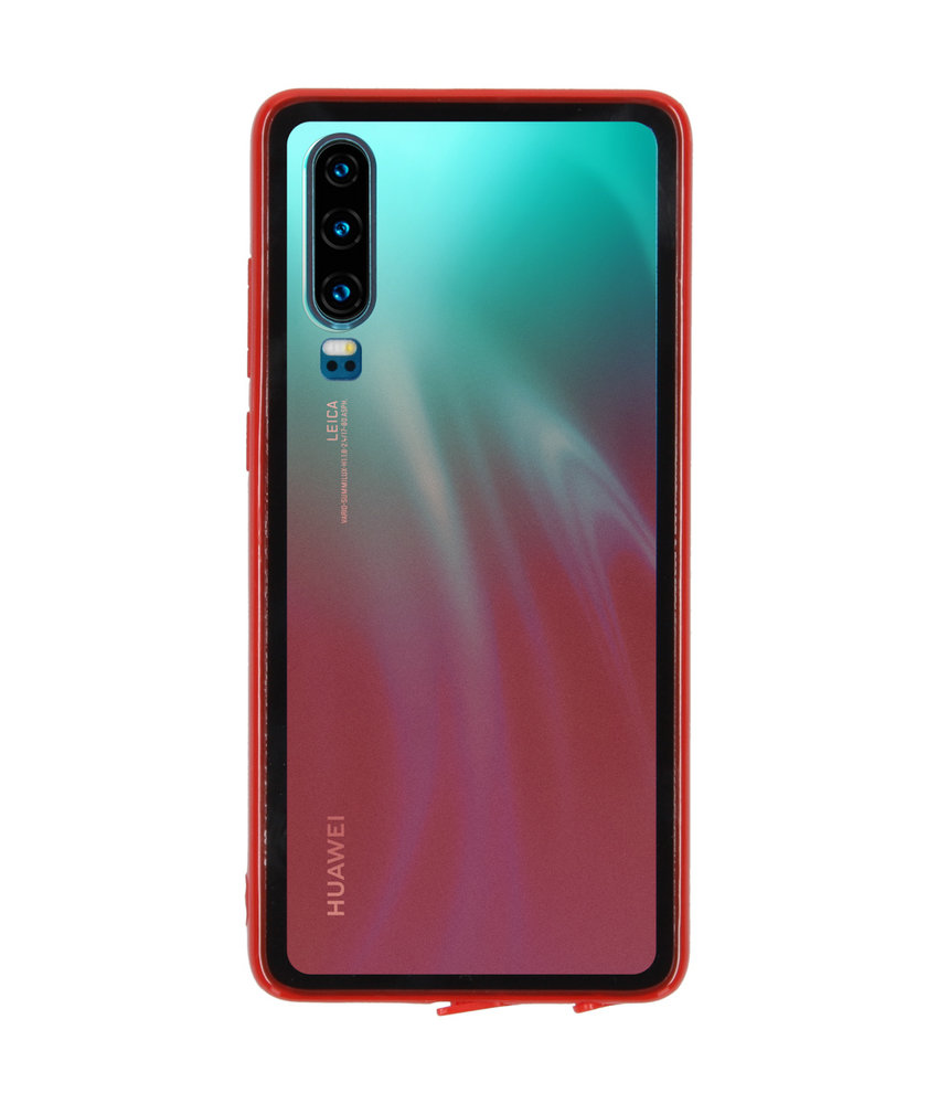 Gradient Backcover Huawei P30 - Rood