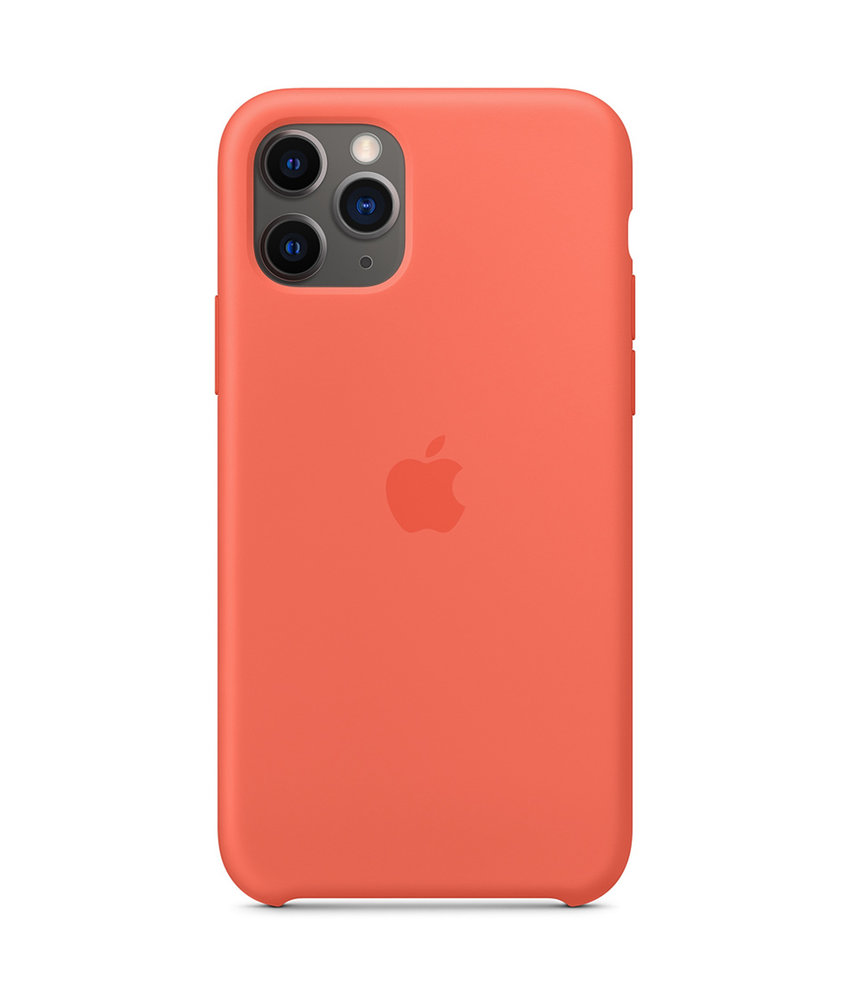 Apple Silicone Backcover iPhone 11 Pro - Clementine Orange