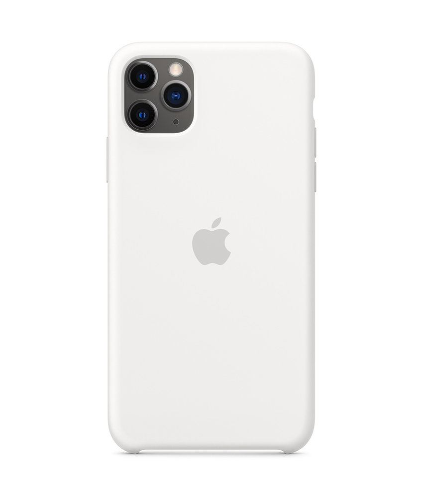 Apple Silicone Backcover iPhone 11 Pro Max - White